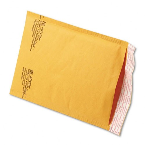 "7 1/4"" x 12"" (No. 1) Jiffylite® Kraft Self-Seal Bubble Mailers"