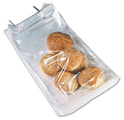 "8-3/4"" x 15"" Wicketed Poly Bag + 2-1/2"" Bottom Gusset (1.25 mil) (250 Bags per Wicket; 4 Wickets per Carton)"