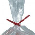 """10 x 5/32"""" Red Plastic Twist Ties"""