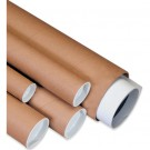 """4 x 12"""" Kraft Mailing Tubes with Caps"""