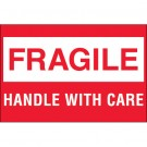 "2 x 3"" - ""Fragile - Handle With Care"""