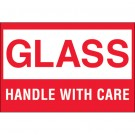 "2 x 3"" - ""Glass - Handle With Care"" Labels"