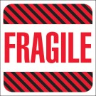 "4 x 4"" - ""Fragile"" Labels"