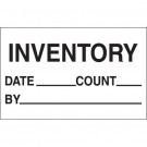 "1 1/4 x 2"" - ""Inventory - Date - Count - By"" Labels"