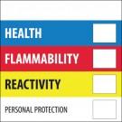 "2 x 2"" - ""Health Flammability Reactivity"""