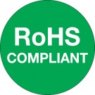 """1"""" Circle - """"RoHS Compliant"""" Green Labels"""