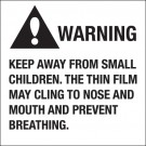 """2 x 2"""" - """"Warning Keep Away From Small Children"""""""