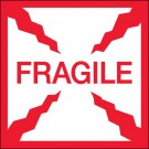 "2 x 2"" - ""Fragile"" Labels"