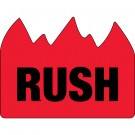 """1 1/2 x 2"""" - """"Rush"""" (Bill of Lading) Flame Labels"""