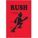 "2 x 3"" - ""Rush"" (Fluorescent Red) Labels"
