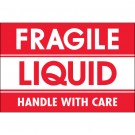 "2 x 3"" - ""Fragile - Liquid - Handle With Care"" Labels"