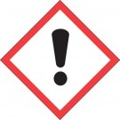 """1 x 1"""" Pictogram - Exclamation Mark Labels"""