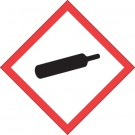 "1 x 1"" Pictogram - Gas Cylinder Labels"