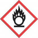 """1 x 1"""" Pictogram - Flame Over Circle Labels"""