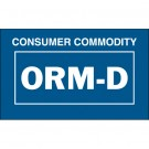 "1 3/8 x 2 1/4"" - ""Consumer Commodity ORM-D"" Labels"