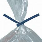 """10 x 5/32"""" Blue Paper Twist Ties"""