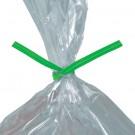 """10 x 5/32"""" Green Paper Twist Ties"""
