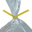 "10 x 5/32"" Yellow Paper Twist Ties"