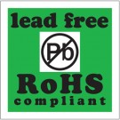 """2 x 2"""" - """"Lead Free RoHs Compliant"""" Labels"""