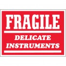 "3 x 5"" - ""Fragile - Delicate Instruments"" Labels"