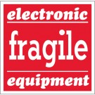 "4 x 4"" - ""Fragile - Electronic Equipment"" Labels"
