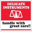 "4 x 4"" - ""Delicate Instruments - HWC"" Labels"