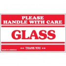 "3 x 5"" - ""Glass - Please Handle With Care"" Labels"