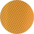 """3"""" Round Amber 3M 989 Reflective Labels"""