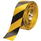 """4"""" x 100' Yellow/Black Mighty Line Deluxe Safety Tape"""