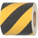 "6"" x 24"" Black/Yellow Heavy Duty Tape Logic  Anti-Slip Treads"