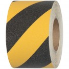"1"" x 60' Black/Yellow Striped Heavy-Duty Tape Logic Anti-Slip Tape"