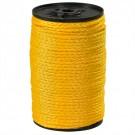 "3/16"", 450 lb, Yellow Hollow Braided Polypropylene Rope"