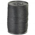 """1/8"""", 320 lb, Black Solid Braided Nylon Rope"""