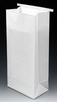 Poly-Lined Gusseted Paper Bag with Tabs